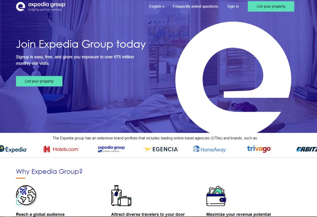 Listing khách sạn tên Expedia