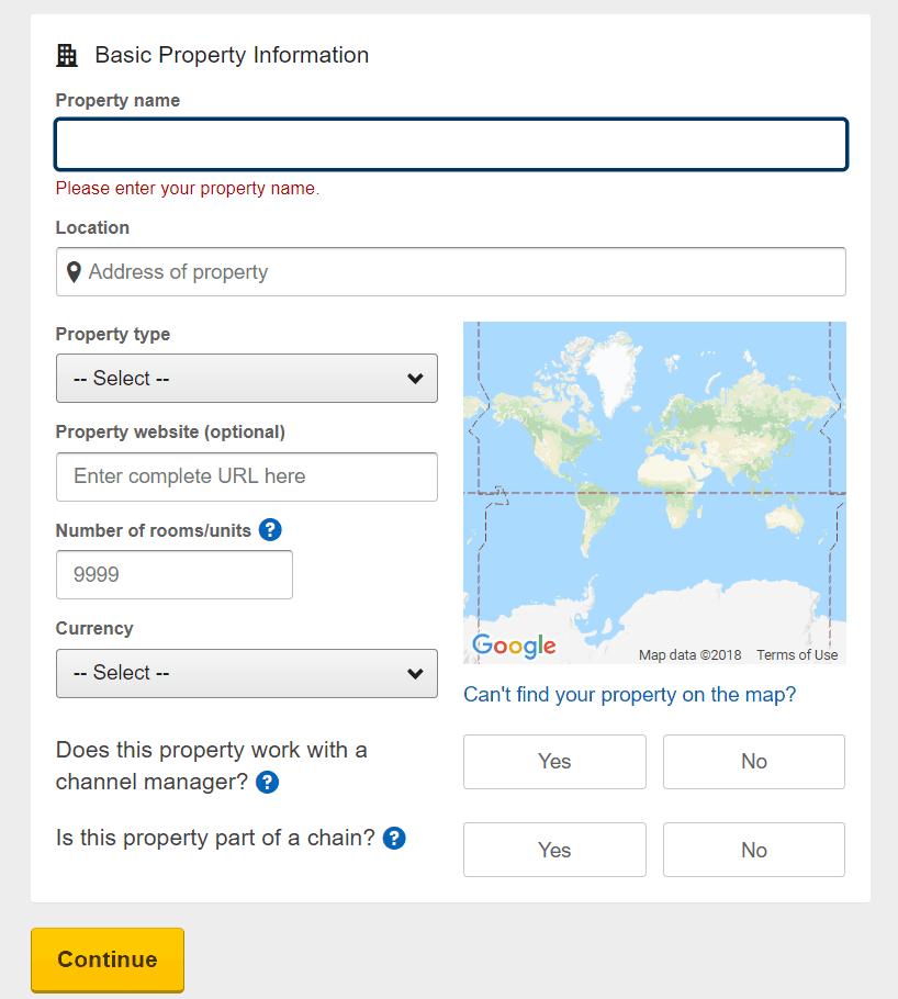 Đăng ký bán phòng trên Expedia